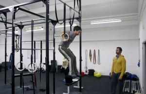 Matt C muscle up in 15.3