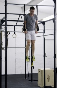 Matt W muscle ups in 15.3 at CrossFit Witham, Essex